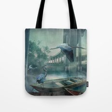 Morning in the Urban Marsh Tote Bag