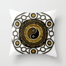 Geometry Balance Life Mandala Throw Pillow
