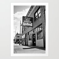 ale giorgini Art Prints featuring M Street Ale House by Vorona Photography