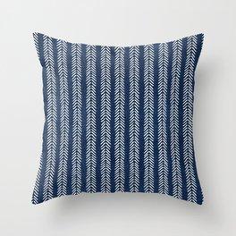 Mud cloth - Navy Arrowheads Throw Pillow