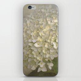 White Hydrangea iPhone Skin