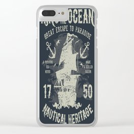 King of the Ocean Clear iPhone Case