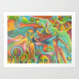 Summerblues Art Print