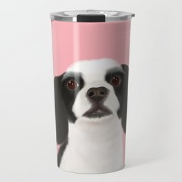 Best Pet Friend Black + White Cocker Spaniel Dog Travel Mug