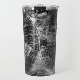 Antique Map Space Stars Black and White Travel Mug