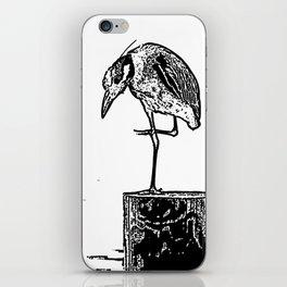 B&W Heron iPhone Skin