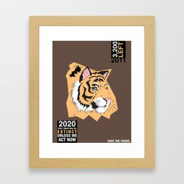 SAVE THE TIGERS Framed Art Print