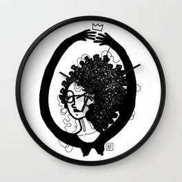 femme à lunettes. Wall Clock