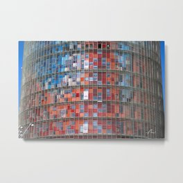 Agbar Tower Barcelona Metal Print