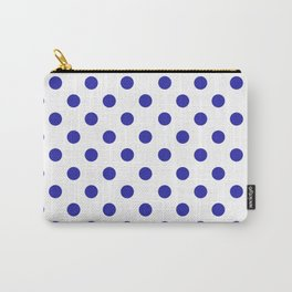 Polka Dots (Navy & White Pattern) Carry-All Pouch