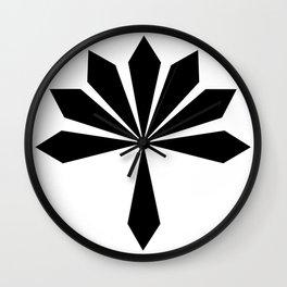 Metal Flower Black Wall Clock