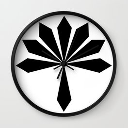 Metal Flower Black Wall Clock