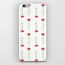 Carnations flowers watercolor art iPhone Skin