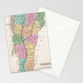 Vintage Map of Vermont (1827) Stationery Cards