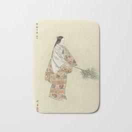 Japanese Art, 1920s Bath Mat