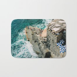 "Travel photography print ""Rocky Beach"" photo art made in Italy. Art Print Bath Mat"