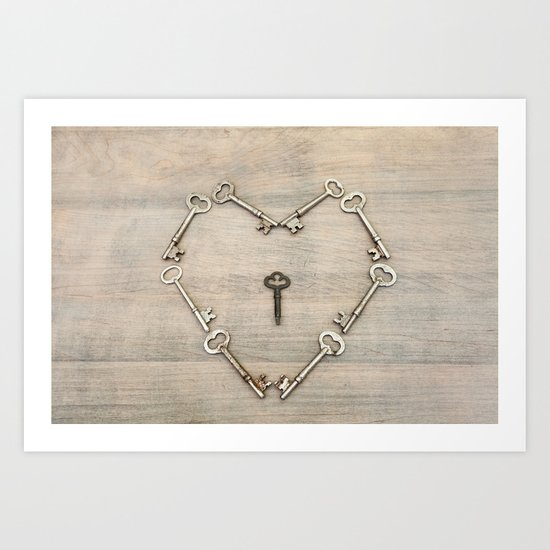 Keys to the Heart Art Print