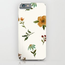 Orange Roses and Spring Floral iPhone Case