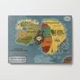 Memory Map Land Metal Print