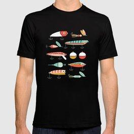 Fishing Lures Green T-shirt