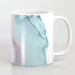 Light Blue and Blush Agate Coffee Mug