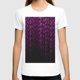 Bright Neon Pink Digital Cocktail Party T-shirt