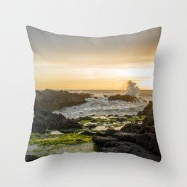 Sunset Horse Rider Throw Pillow