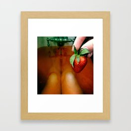 Strawberry bath Framed Art Print