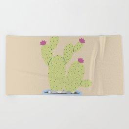 Suculents Cactus Plants Beach Towel