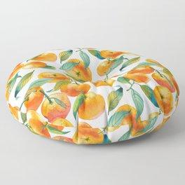 Mandarins With Leaves Floor Pillow