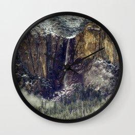 Bridalveil Fall  1-25-18 Wall Clock