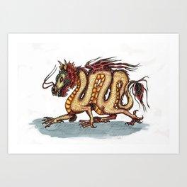 Draca sinensis (clean version) Art Print