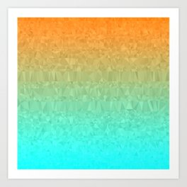 Blue and Orange Ombre - Flipped Art Print