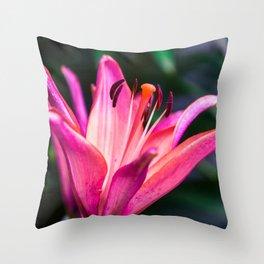 Michigan Lily Throw Pillow