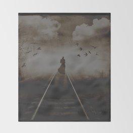Loneliness Throw Blanket