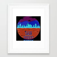 san diego Framed Art Prints featuring San Diego by Simon Alenius
