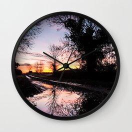 Dawn on the Lane Wall Clock