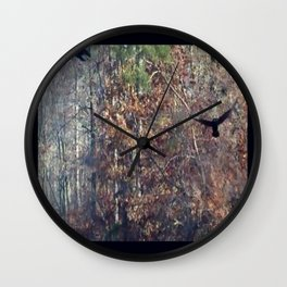 Crows in the Woods Wall Clock
