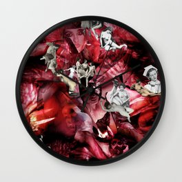 Scarlet Ocean Tempest Wall Clock