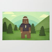 sasquatch Area & Throw Rugs featuring sasquatch  by Pope Saint Victor