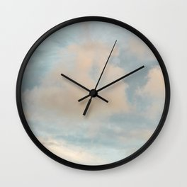 Blue Sky with Gray Clouds Wall Clock