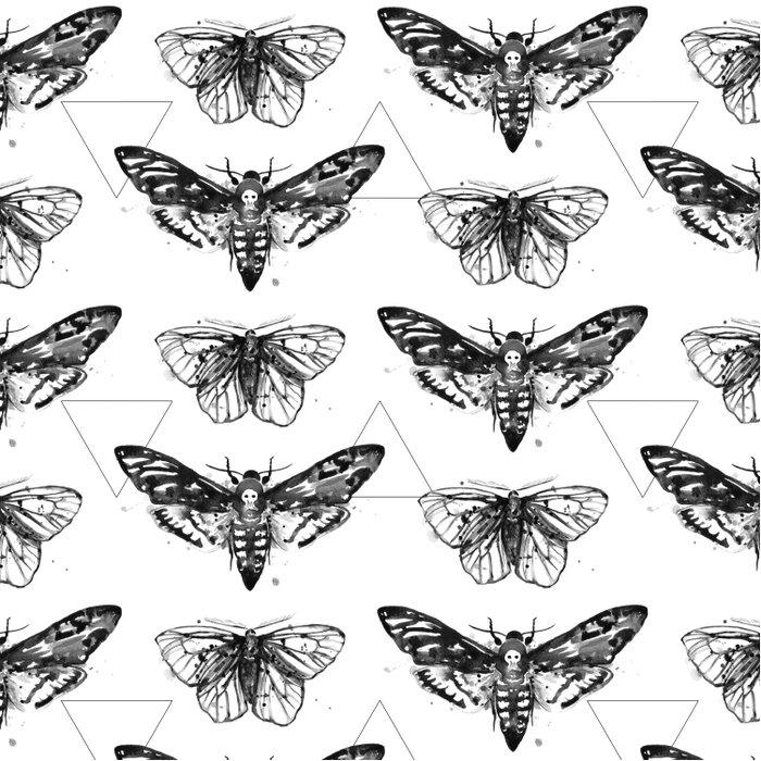Geometric Moths Comforters