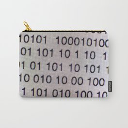 Binary code on a computer screen Carry-All Pouch