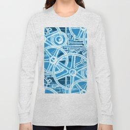 Geared Up ( Big Blue) Long Sleeve T-shirt