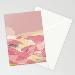 Pink Multi Layer Pattern Design Stationery Cards