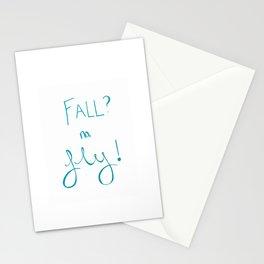 Fall? no, Fly! Stationery Cards