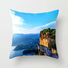 A View To Everything French Riviera Throw Pillow