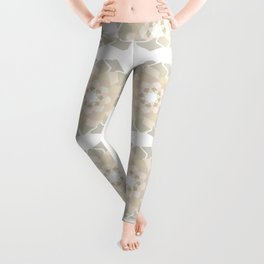 Abstract geometric flowers pattern contemporary pastel colours Leggings