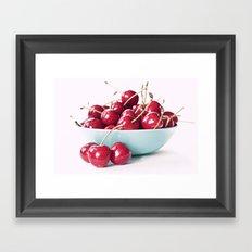 Bowl of Cherries Framed Art Print