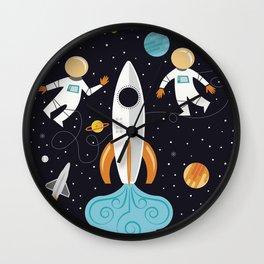 A Walk in Space Wall Clock